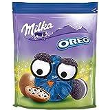Milka Bonbons OREO – Neues Design – Zartschmelzende Schokoladen Bonbons aus feinster Alpenmilch mit OREO-Keksstückchen – 86g