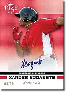 XANDER BOGAERTS 2012 Rize Rookie Autograph RED Auto RC #/10