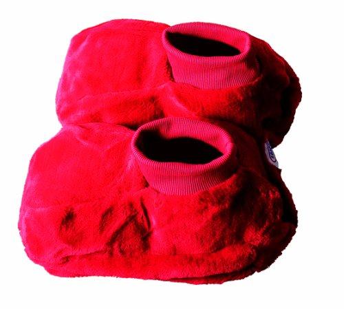 h Fußwärmer mit Wärmflasche Rot