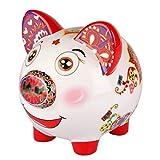 Tirelire cochon en céramique - Enfant à chérir - Pour garçons et filles