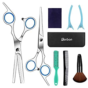 Beauty Shopping Sirabe 9 PCS Hairdressing Scissors Kits Stainless Steel Hair Cutting Shears Set Thinning/Texturizing