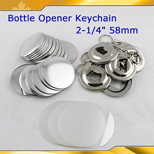 "Bottle Opener Keychain 58mm 2-1/4"" Parts 100set Supplies for Pro Maker Machine"