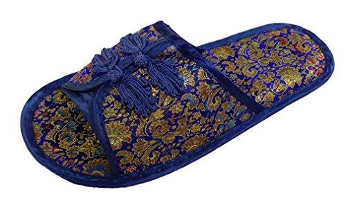 Chinesisch Pantoffeln Hausschuhe Damen Schuhe Blau