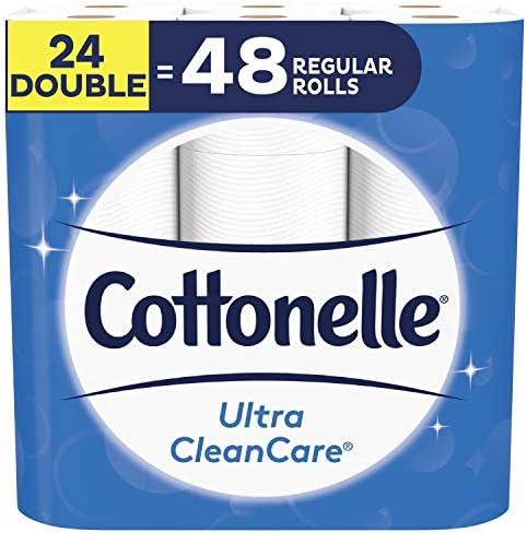 [Amazon.ca] Cottonelle Ultra Cleancare Toilet Paper, 24 Double Rolls $10.99 (45% off)