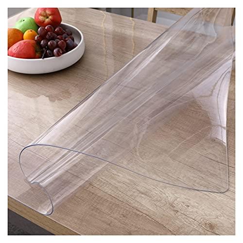 AWSAD Protector Mesa, Sin Olor Cubiertas de Mesa 1,5 Mm / 2 Mm Cubierta Mesa de Plástico por Salud Durabilidad Tiempo Uso Prolongado (Color : 1.5mm, Size : 70cmX140cm)
