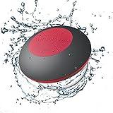 Neuftech Impermeable Bluetooth 4.2 Altavoz para Ducha, Altavoces estéreo para iPhone,Samsung,Huawei, Xiaomi ect(Gris y Rojo)