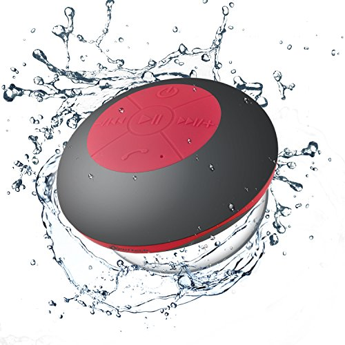 Neuftech Impermeable Bluetooth 4.2 Altavoz para Ducha, Altavoces estéreo para iPhone,Samsung,Huawei, Xiaomi...
