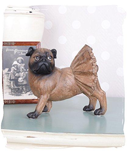Mopsfigur Hundeskulptur Mops Carlin Vintage Hundefigur Antik Look PALAZZO EXCLUSIVE