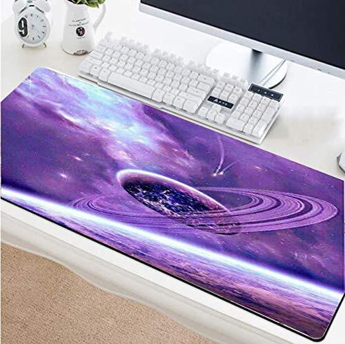 Muismat Universum Purple Star anti-slip rubberen laptop toetsenbord grote bureauonderlegger aangepaste tapijtmat/onderzetter 30 * 80 cm