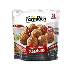 Farm Rich Italian Style Meatballs, Made with Beef, Pork and Authentic Bread Crumb Recipe, Fully Cook