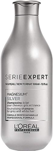 L'Oréal Professionnel Série Expert Silver Shampoing Violet Déjaunisseur pour Cheveux Blancs et Gris