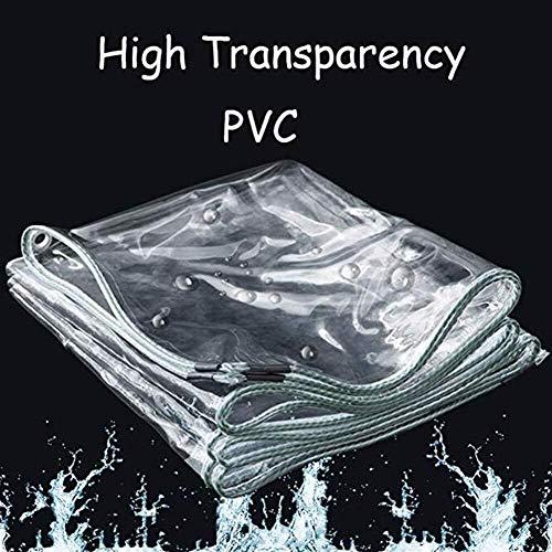 Cubierta impermeable transparente - Lona pesada impermeable transparente impermeable de PVC de 0,5 cm de tela espesa la ventana cubierta de polvo de metal hebilla -Lona alquitranada ( Size : 2x3m )