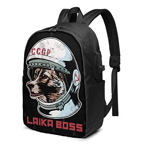 IUBBKI Laika Sp-Ace Traveler 17 Inch Laptop Backpack For Men & Women,Travel/School Backpack With Usb Charging Port & Headphone Interface