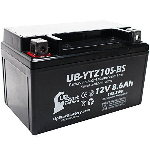 Replacement for 2006 Yamaha YZF-R6 (excl. R6S) 600CC Factory Activated, Maintenance Free, Motorcycle Battery - 12V, 8.6Ah, UB-YTZ10S-BS