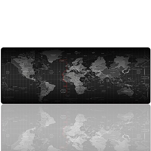 UBEI Large Gaming Mouse Pad - Portable Large Desk Keyboard Mat for Laptop - Non-Slip Rubber Base Multicolor(Map) (27.5x11.8x0.079IN)