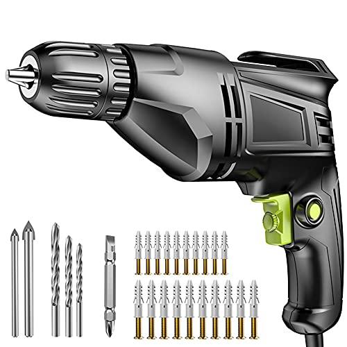 Taladro de impacto eléctrico, destornillador de mandril autobloqueante, taladro de pistola eléctrico...