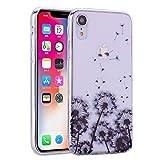 para la Cubierta de la Caja del teléfono iPhone XS MAX, HengJun Funda Ultra Delgada Transparente Transparente de TPU [absorción de Impactos] para iPhone XS MAX -Dandelion