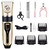 FADZECO Professional Pet Combing Haircut Kit Charging Mute Pet Wireless Razor Cat and Dog Hair Clipper