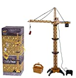yanzz Juguetes de grúa de Control Remoto para niños, grúa Torre de Control Remoto para niños Control de Cable de Control RC Torre de ingeniería Coche de Juguete con luz giratoria 680 Grados