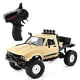 Kikioo Amarillo RC Semirremolque 4x4RTR RC Coche 1/16 4WD Rastreadores de roca Conducción de automóv...