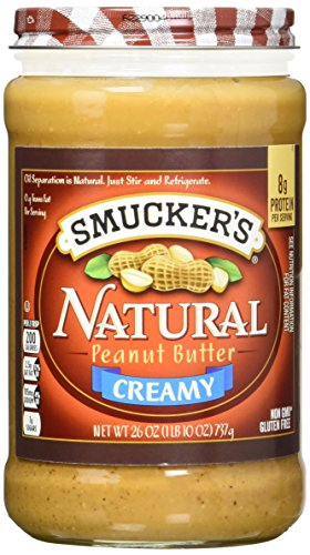 Smucker's Natural Creamy Peanut Butter, 26-Ounce Glass Jars (Pack of 3)