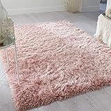 Flair Rugs Dazzle Sparkle - Alfombra de pelo profundo (60 x 110 cm), color rosa