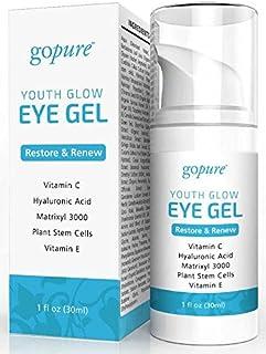 goPure Eye Gel - with Plant Stem Cells, Matrixl 3000, Aloe Vera - 1oz