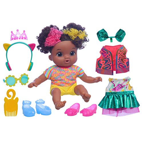 Baby Alive Littles, Fantasy Styles Squad Doll, Little Marlowe, Rock Star Accessories, Curly Black Hair Toy for Kids Ages 3 Years and Up (Amazon Exclusive)