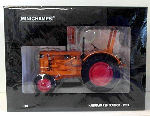 Hanomag R28 Traktor, orange, 1953, Modellauto, Fertigmodell, Minichamps 1:18