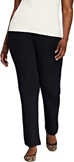 Lands' End Women's Sport Knit High Rise Elastic Waist Pull On Pants