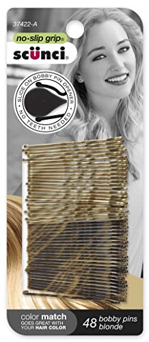 Scunci No-slip Grip Beautiful Blends Blonde Bobby Pins, 48-Count