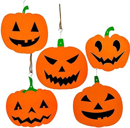 THE TWIDDLERS 18 Remolinos Colgantes de Calabaza - Jack O Linterna Eventos de Halloween - Decoración de Fiestas en Halloween o Navidad