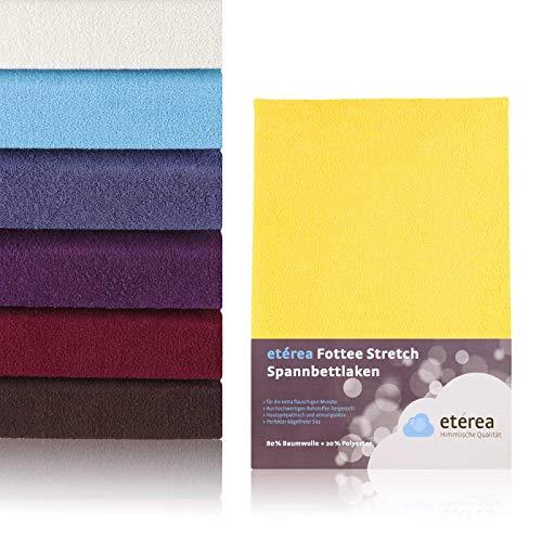 etérea Himmlische Qualität Frottee Spannbettlaken Spannbettuch in der Größe 140x200-160x200 cm Farbe: Gelb