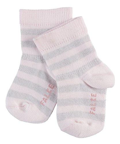 FALKE Baby Socken Spark Stripe - Baumwollmischung, 1 Paar, Rosa (Powder Rose 8902), Größe: 80-92