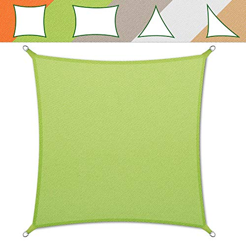 casa pura® Sonnensegel wasserabweisend imprägniert | Testnote 1.4 | quadratisch, 3x3m | UV Schutz | viele Farben (grün)
