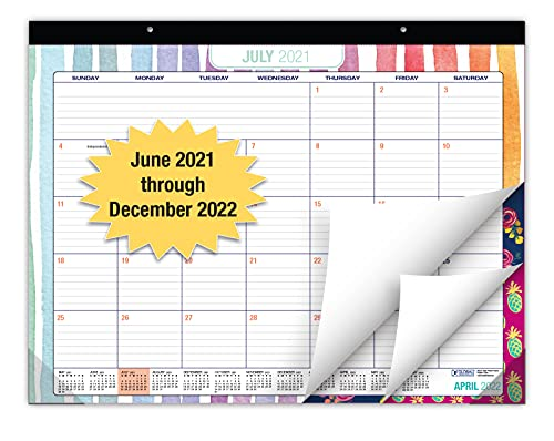 """Desk Calendar 2021-2022: Large Monthly Pages - 22""""x17"""" - Runs from June 2021 Through December 2022 - Desk/Wall Calendar can be Used Throughout 2022."""