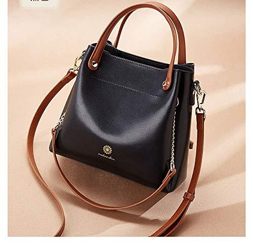 dddyr Weiche Leder Multifunktions tragbare Eimer Tasche Schulter Messenger Bag weiblich