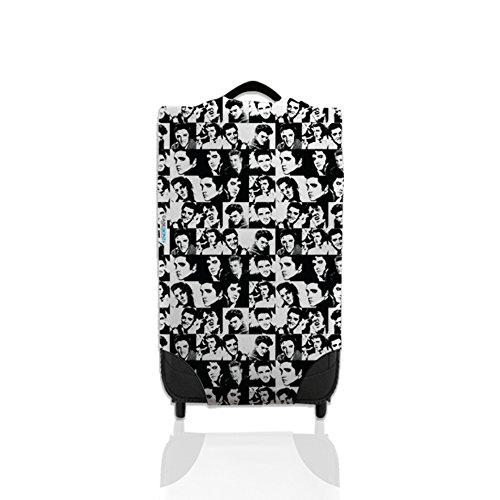 Black & White Elvis Design Suitcase Cover Easily Identify Your Case On The Carousel *Suitcase Not Included* Large