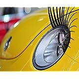 クェルサ(Crusar)車ヘッドライト用まつ毛 自動車用つけまつげ 自動車用装飾シール 左右1セット [並行輸入品]