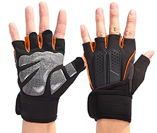Serveuttam Premium Workout Gloves with Anti-Slip Silica Gel Palm/Wrist Strap for Weightlifting Cross Training Strength Training Bodybuilding Fitness,Perfect Durable Workout Gloves for Men & Women