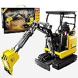 LICI Juego de construcción de piezas de construcción para excavadora de orugas de 2,4 GHz, 1718 piezas, compatible con Lego Technic