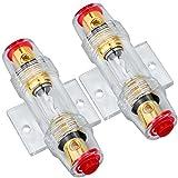 2PCS Fusible 60A Portafusibles en Línea con Fusibles AGU 60A para Compresores de Amplificador de Alarma de Audio para Automóvil