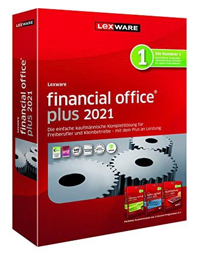 Lexware financial office 2021|plus-Version Minibox (Jahreslizenz)|Einfache kaufmännische Komplett-Lösung für Freiberufler|Kompatibel mit Windows 8.1 oder aktueller|Plus|1|1 Jahr|PC|Disc