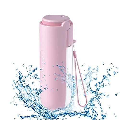 EasyULT Plegable Botella de Agua para Perros, 420ml Portátil Botella Mascotas Portátil,...
