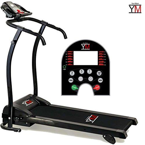 YM Tapis ROULANT Elettrico Pieghevole SENSORE Cardiaco Cardio Lettore MP3 Altoparlanti 1250 W (2,5 HP Picco)