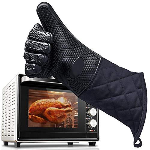 courti - Guantes de Horno Resistentes al Calor, Guantes de Silicona Largos Impermeables para Horno de Cocina para Barbacoa, Cocina