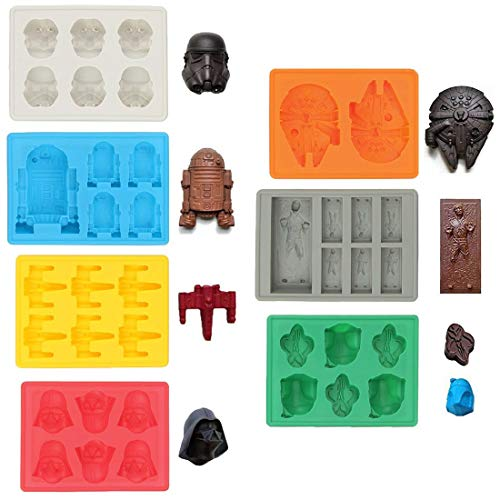 Sunerly Silicone Ice Tray Molds in Star Wars Character Shapes,