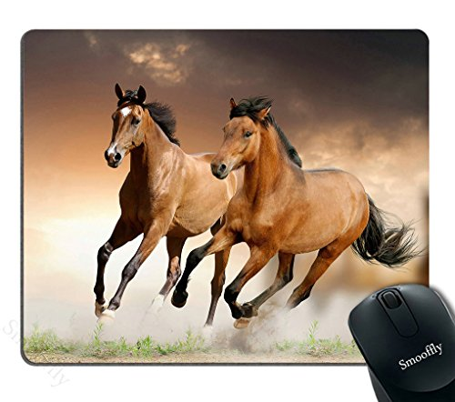 Smooffly Mouse Pad Running Horse Customized Rectangle Non-Slip Rubber Mousepad Gaming Mouse Pad