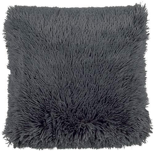 Dutch Decor Fluffy - Cojín (poliéster), Color Gris