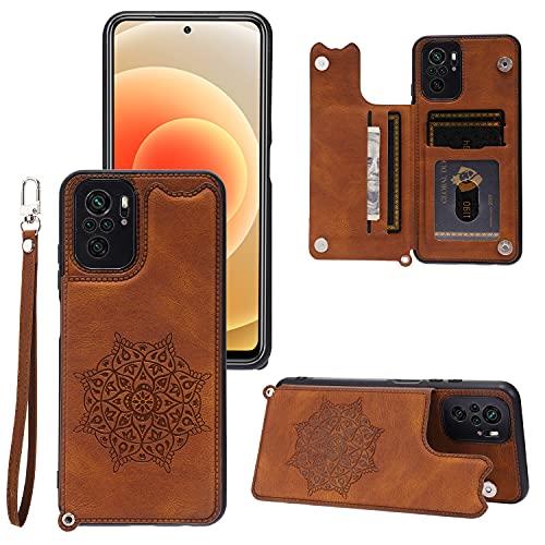 Seminer Funda de teléfono Seminer Wallet para el Redmi Note 10 4G con Tarjetero, Funda Protectora de Cuero de Primera Calidad a Prueba de Golpes para el Redmi Note 10 4G (Marrón)